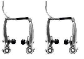 Тормозные рычаги,  V-brake, алюминиевые, комплект (перед+зад), с колодками, GD49-602, MEET