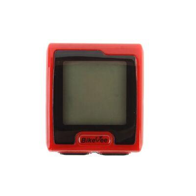 Велокомпьютер, беспроводной, BKV-7000, 9 функций, BikeVee (красный, 1CM000000023) #0