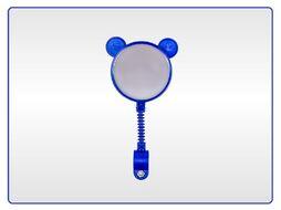 Зеркало заднего вида, детское, Мишка, гибкая стойка, пластик, KIDS, цвет - синий