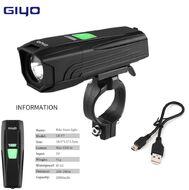 Фара передняя, GIYO, LR-Y11, 1 CREE LED (Е6), с аккумулятором 2000mah, USB кабель, влагозащита, 4 режима работы,  с креплением на руль, инд. упак. (GIYO-LR-Y11)