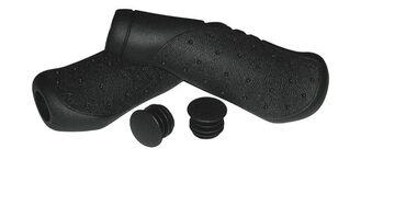 Рукоятки руля эргономичные (Грипсы, комплект), 135 мм, инд. упак. (черный, 4610013543850) #0