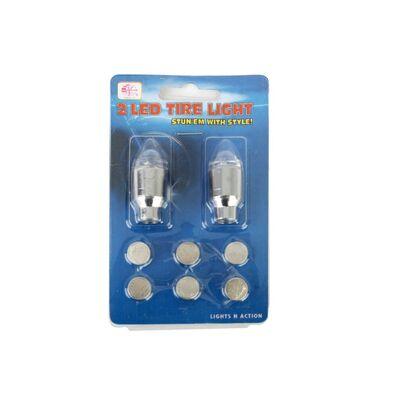 Колпачок на ниппель, JY-503, светодиодный (1 LED), к-кт 2 шт. #0