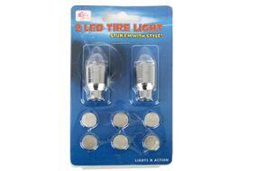 Колпачок на ниппель, JY-503, светодиодный (1 LED), к-кт 2 шт.