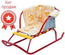 Матрасик (сиденье мягкое) для санок Ника с подлокотником СС2