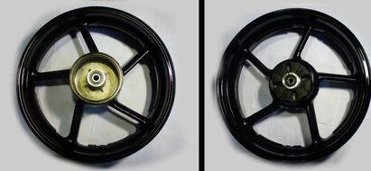 диск колесный задний литой 17-3,5 (бараб. тормоз 130мм алюмин. литой) Racer RC200CK/RC250CK Nitro
