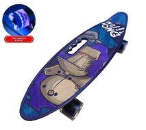 """Скейтборд (пенниборд) PWS 23"""" Print """"King Kong"""", с ручкой, LED светящиеся колеса, подвеска - Alu, ABEC-7 (синий/красный) УТ00021576"""