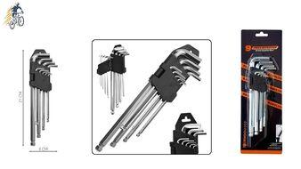 Набор инструментов: ключи шестигранные, 9 предм.(1.5/2/2.5/3/4/5/6/8/10 мм), 21 см, пластиковый держатель, на блистере, Q-TOOLS