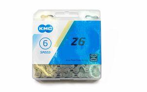 """Цепь """"KMC"""" (Z-6) 6 скор. (116 звеньев) с замком, инд. упаковка"""