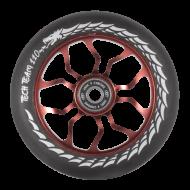 Колесо для трюкового самоката DukeR 303, 110 мм, алюминиевое, подшипники ABEC 9 (черный/красный, NN002332)
