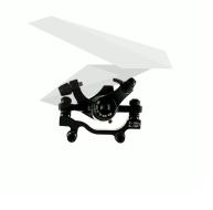 Тормоз механический (Суппорт), F-180/R-160, с адаптером, Bolids