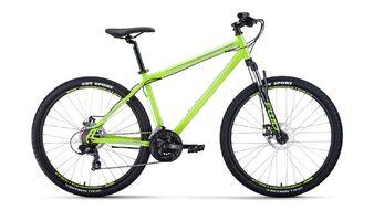 Велосипед FORWARD SPORTING 27,5 2.0 disc 2019-2020, светло-зеленый/серый