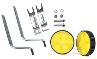 """Колесики поддерживающие боковые 12""""-20"""" в комплекте с кронштейнами и крепежом, 110 мм (серебрист./желтый, NTW000000004)"""