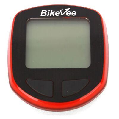 Велокомпьютер, беспроводной, BKV-1000, 13 функций, BikeVee (красный, 1CM000000029) #0