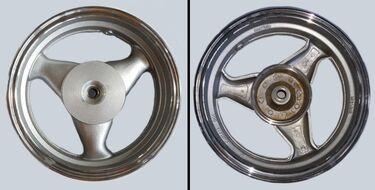 диск колесный задний 12-3.5 19 шлицов, литой, барабан