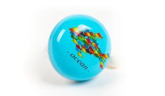 """Звонок велосипедный """"Ocean"""" алюминий/пластик Ø 53 мм, 44SZ-15 (бирюзовый, УТ00020374)"""