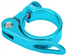 Хомут подседельного штыря с эксцентриком, 34,9 мм (синий, H34.9BLUE)