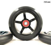 Колесо для трюкового самоката 5S 110x24 мм, алюминий, тип PU: HR, подшипники ABEC 9 (УТ00020988)