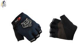 Велоперчатки KNIGHTOOD, короткие пальцы, биэластичные, лайкра, антискользящие (синий/черный, P-865)