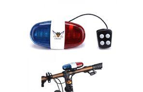 """Звонок велосипедный, электронный, сигнал светозвуковой """"Полицейская сирена"""", 6 LED, 4 мелодии"""