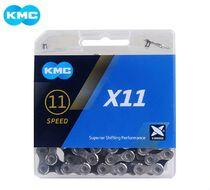 Цепь KMC (X-11) 11 скор. (118 звеньев) 5,50 мм, с замком, инд. упаковка (KMC-X11)