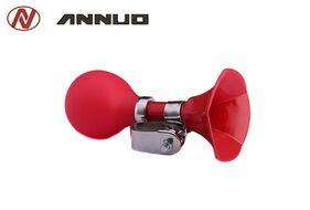 Сигнал велосипедный, клаксон, пневматический, пластик, ANNUO, L-C-22 (красный, RNVLC2200001)