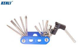 Набор инструментов KENLI: ключи шестигранные 2/2.5/3/4/5/6/8 мм, T25, 2 отвертки, выжимка цепи, торц. насадки 8/9/10 мм (KL-9835D)