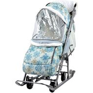 Санки-коляска детские Ника Наши Детки (зимний фисташковый)