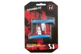 Тормозные колодки, SJ, V-Brake, 60мм, на блистере (синий, T-640)