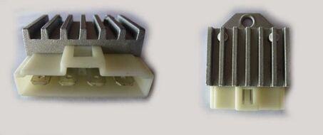 реле регулятор напряжения (реле зарядки) 50 (4конт.в ряд)  YAMAHA JOG50-90, AD50