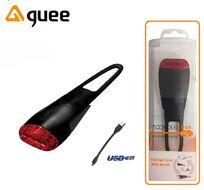Фонарь задний GUEE, TADPOLE, аккумуляторный, USB, 3,7V/260mAh, 4 Super LED Light, блистер (черный, GU-SLA1-RA1-BK)
