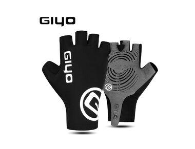 """Велоперчатки GIYO, короткий палец, гелевые вставки, биэластичные, силикон, лайкра, размер """"XL"""" #0"""