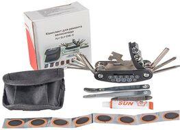 Набор инструментов в сумке, KENLI: Монтажки, Набор шестигран. ключей, Аптечка, монтажки (GJ-016-3)