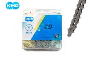 """Цепь """"KMC"""" (Z-9) 9 скор. (116 звеньев) с замком, инд. упаковка"""