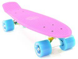 """Скейтборд (Пенниборд) PWS Classic 22"""" розовый/голубой"""