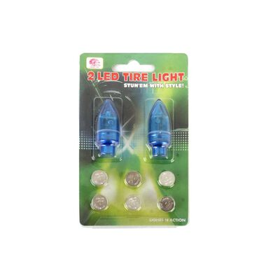 Колпачок на ниппель, JY-505, светодиодный (1 LED), к-кт 2 шт. #0