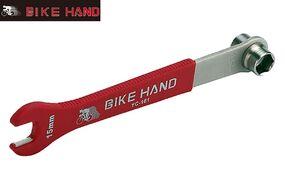 """Ключ велосипедный Bike Hand YC-161, ключ педальный на 15 мм, 9/16"""", обрезиненная сталь (Bike Hand YC-161)"""