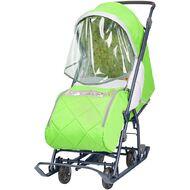 Санки-коляска детские Ника Наши Детки 3 (зеленый)