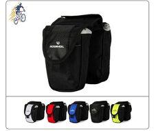 """Велосумка """"RosWheel"""", крепление на раму, с отделением для смартфона, полиэстер 450D, RW-529 (черный)"""