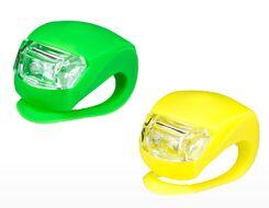 Комплект: фара передняя, фонарь задний, силикон, DS-008