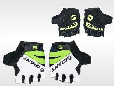 Велоперчатки GIANT, короткий палец, гелевые вставки, биэластичные, силикон, лайкра #0