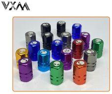 Колпачок на ниппель алюминиевый, VXM, инопланетяне (цвета в ассортименте, УТ00019026)