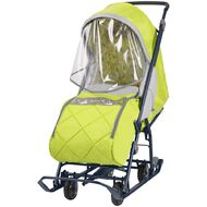 Санки-коляска детские Ника Наши Детки 3 (лимонный)