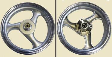 диск колесный передний 12-2.5 литой, дисковый