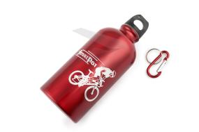 Бутылочка велосипедиста, 550 мл, алюминиевая, DM-32, с карабином, DEMEN