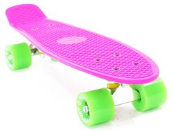 "Скейтборд (Пенниборд) PWS Classic 22"" розовый/зеленый"