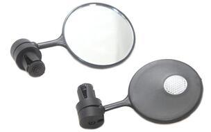 Зеркала заднего вида (комплект: правое+левое), крепление в торец руля, с катафотом (4650064231023)