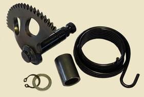 зубчатый сектор кикстартера (полумесяц+ пружина + втулка со стопорным кольцом) 2Т 1E40QMB, JOG50 (L=
