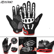"""Велоперчатки SPAKCT, длинный палец, гелевые вставки, биэластичные, силикон, лайкра, размер """"L"""" (черный/красный, FWDSPAKCTL2)"""