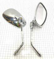 Зеркало заднего вида правое прямоугольное, хром TRITON