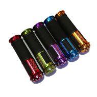 Рукоятки руля (грипсы, комплект), 130мм, с алюминиевыми наконечниками, New Vision (черный/красный)